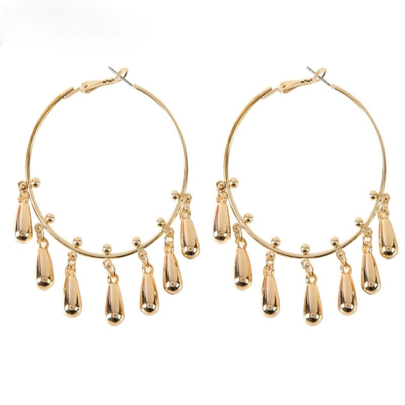 Deeba Hoop Earrings - Gold