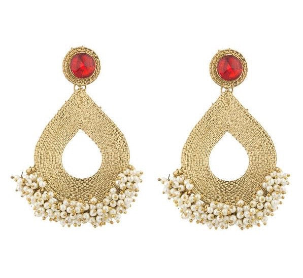 New World Earrings - Red