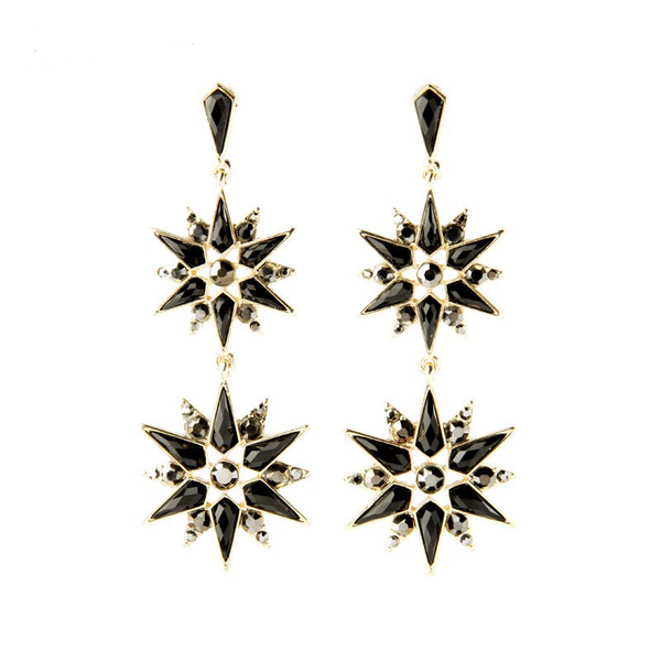 Essence Star Earrings - Black
