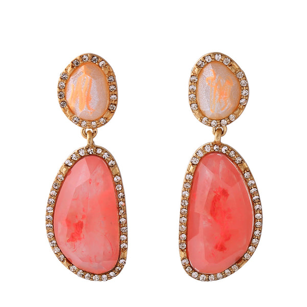 Fierce Drop Earrings - Coral