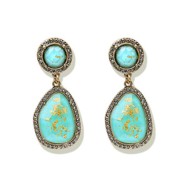 Fierce Drop Earrings - Turquoise