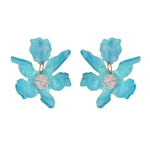 Fleur Earrings - Blue