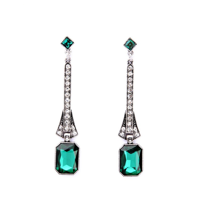 Gala Earrings - Green