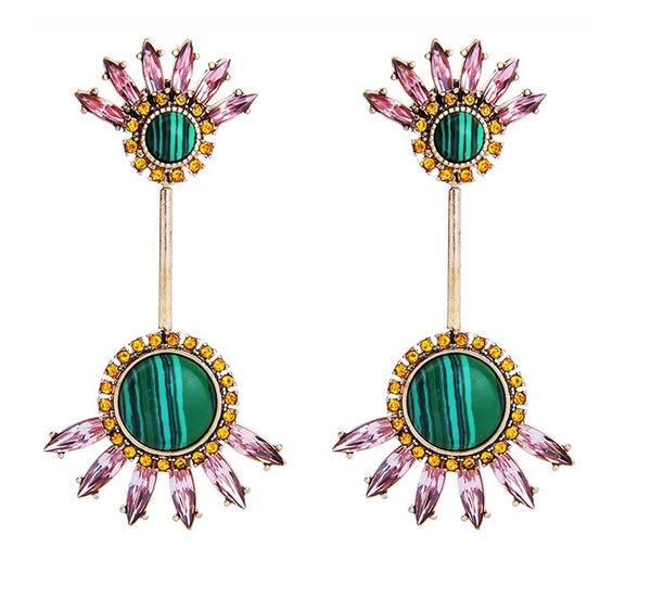 Le Reve Earrings - Green