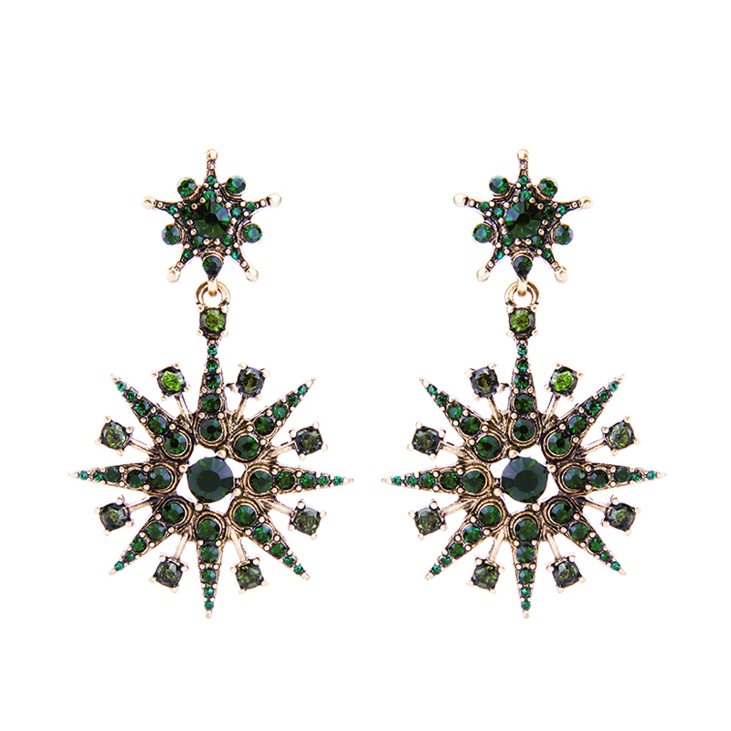 Stardom Earrings - Green