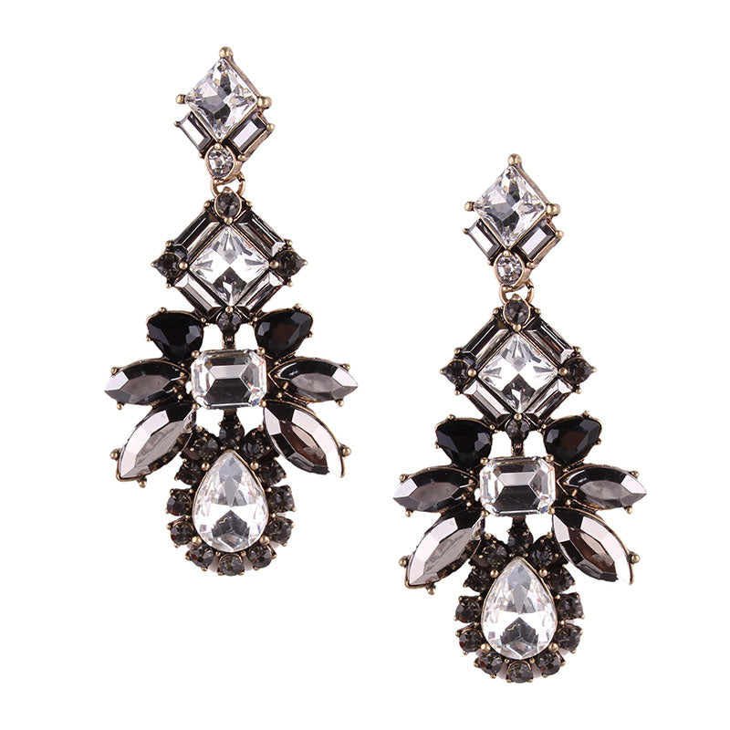 Pia Earrings - Gunmetal