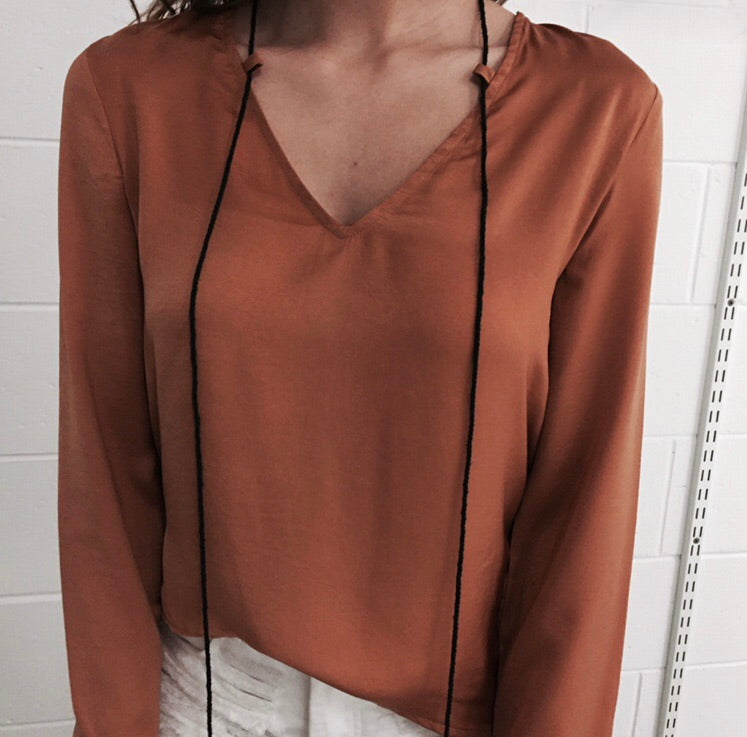 Sateen Shirt - Copper (SAMPLE)