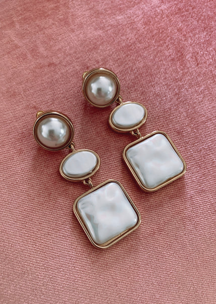 Yvette Earrings - Faux Pearl