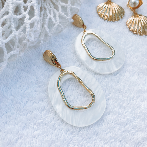 Oceanic Earrings - Gold