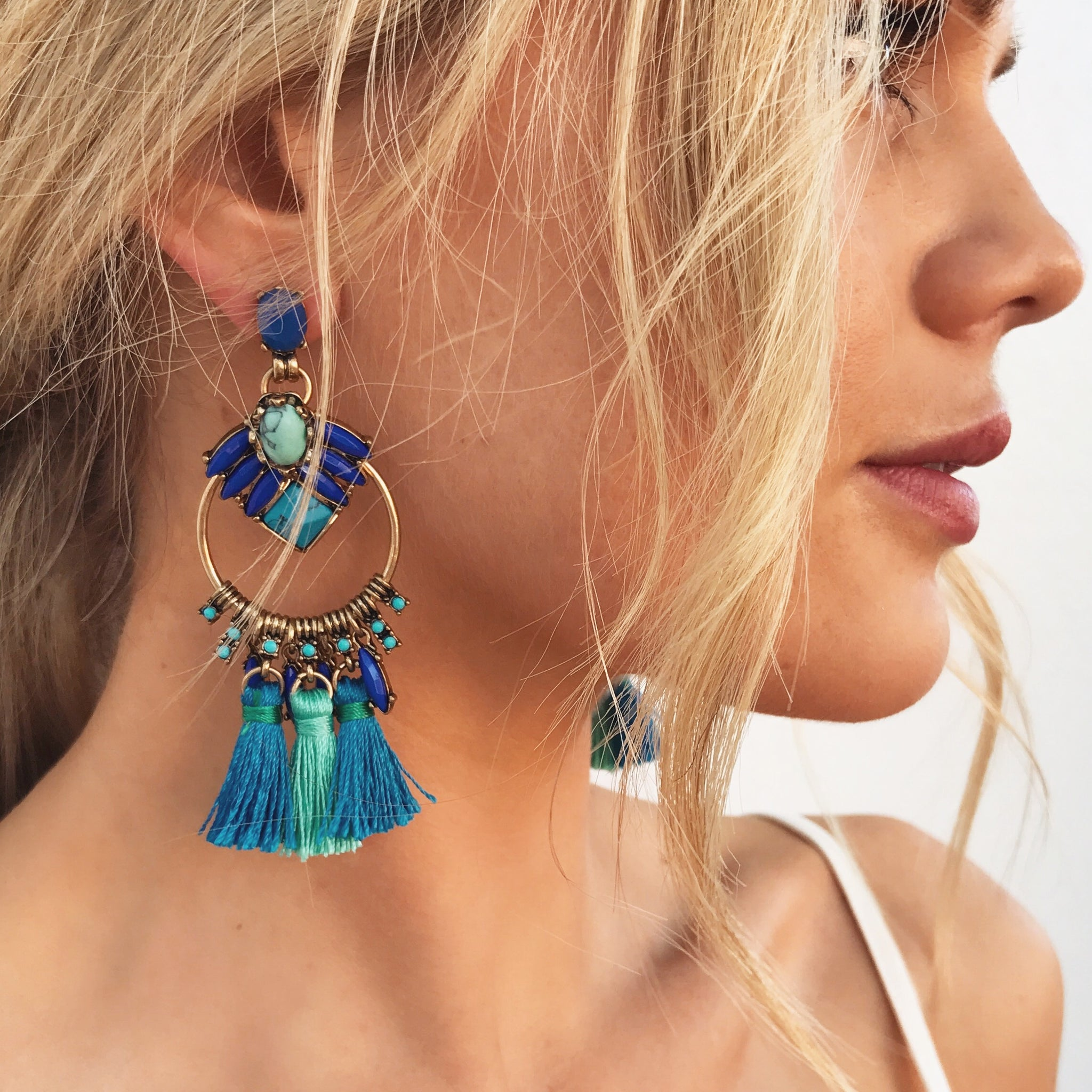 Carnivale Earrings - Blue
