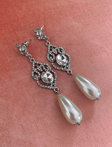 Vintage Bride Earrings - Silver
