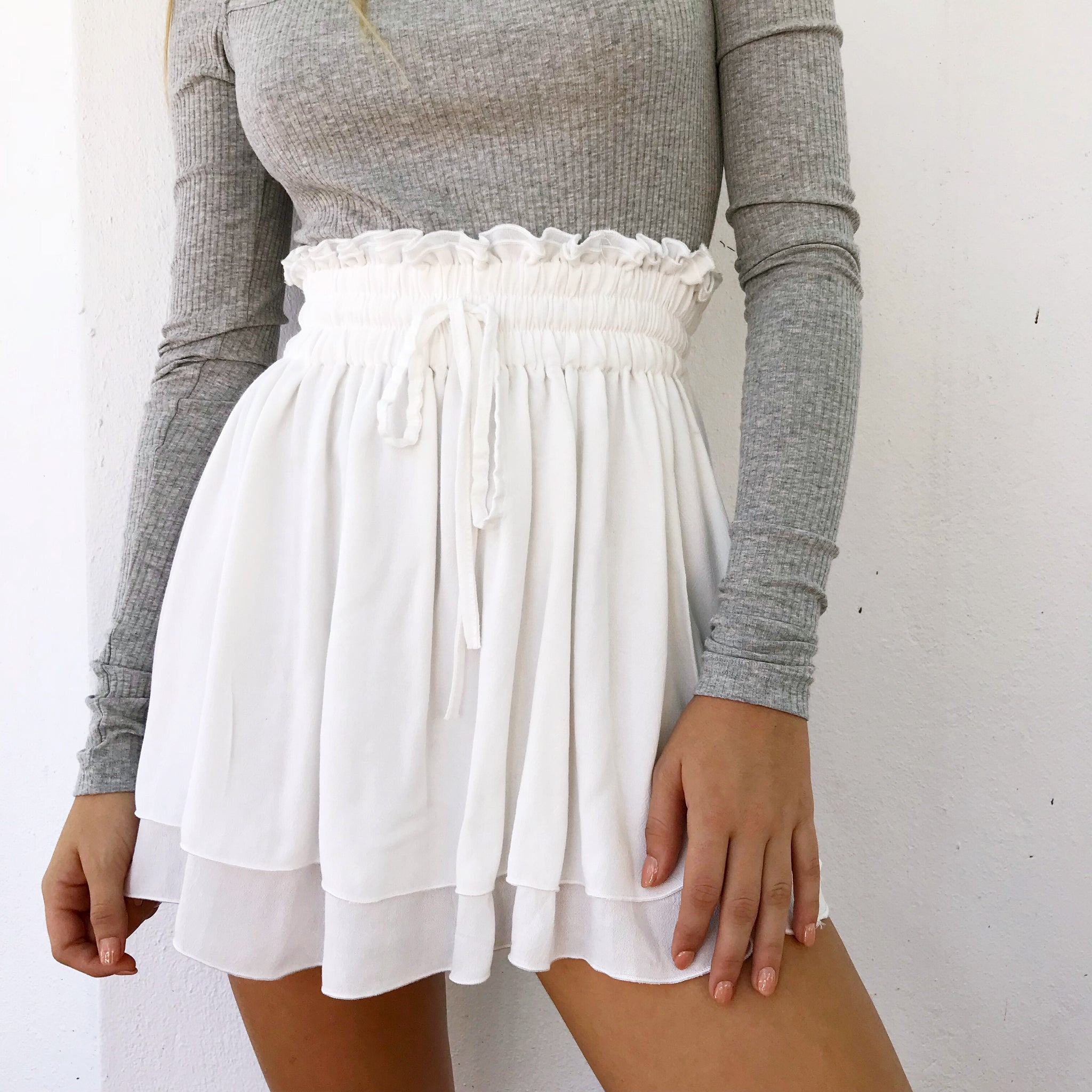 Madi Mini Skirt - White