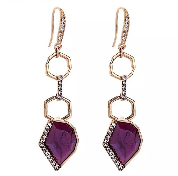 Peruvian Earrings - Purple