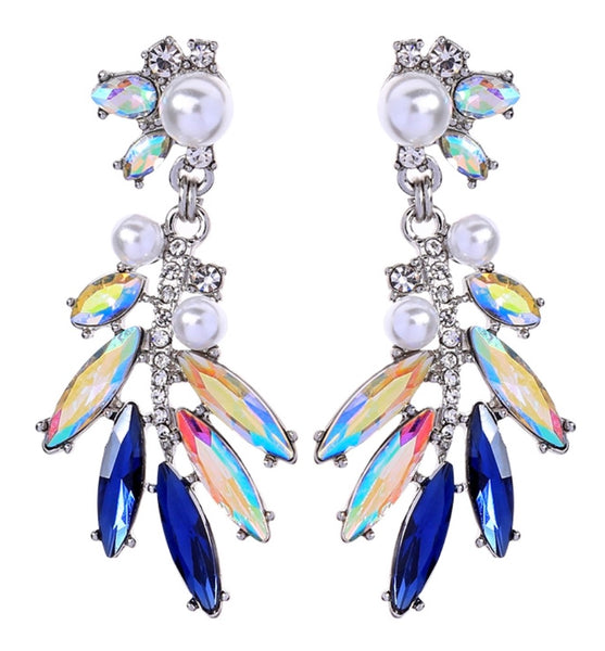 Daphne Earrings - Blue
