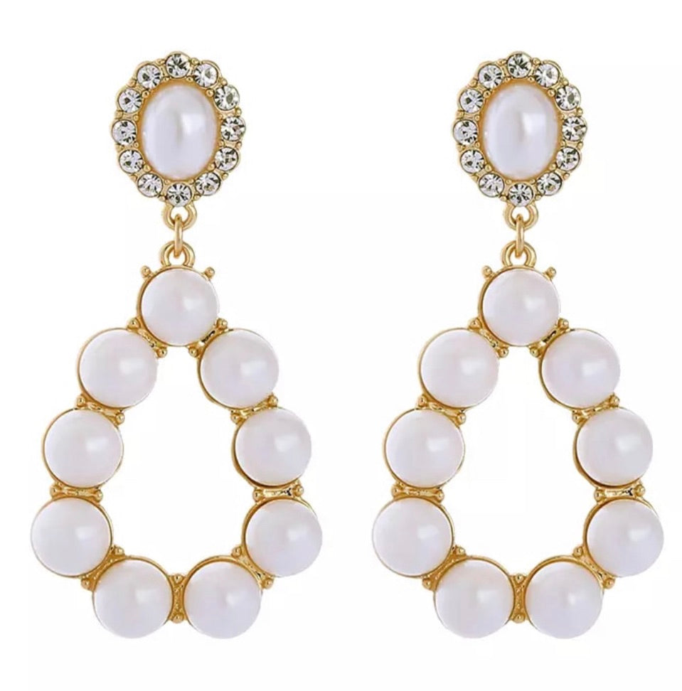 May Earrings - White