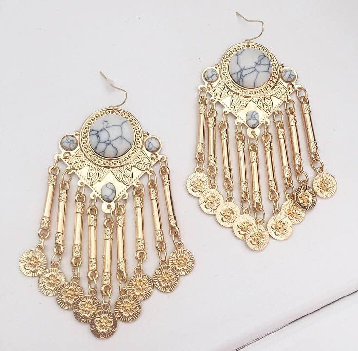 Stay The Night Earrings - Gold