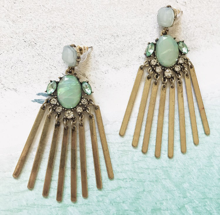 Selina Earrings - Sea Green