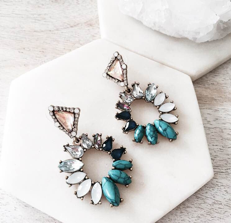 Summer Nights Earrings - Turquoise