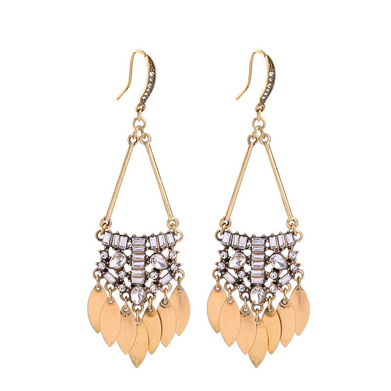 Lori Earrings - Dark Gold