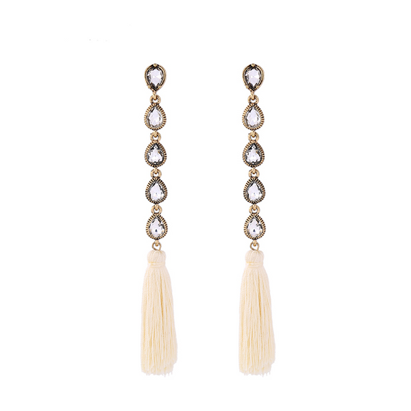Nelly Earrings - Cream