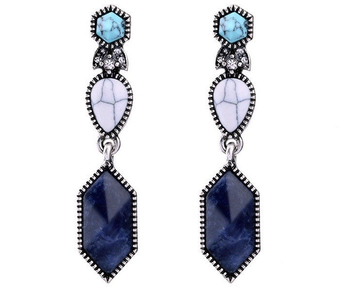Not So Navy Earrings - Blue