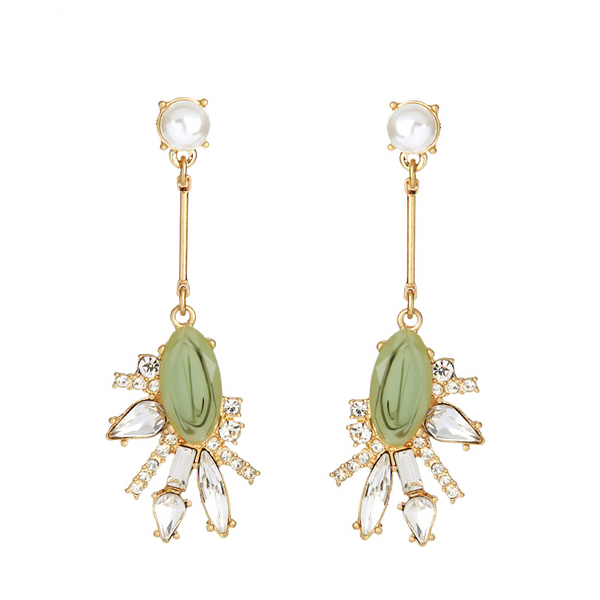Cosmopolitan Earrings - Green