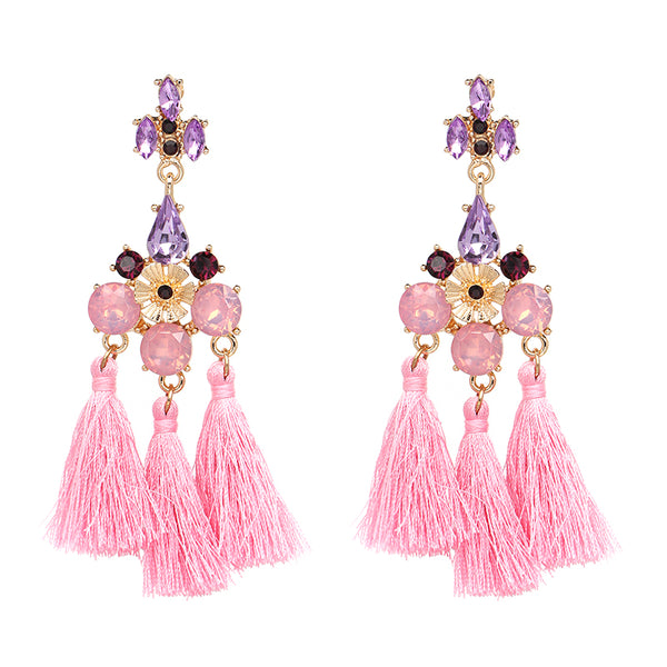 Flamenco Earrings - Pink