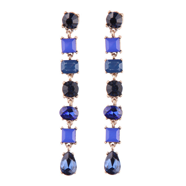 Portia Earrings - Blue
