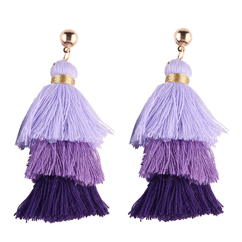 Hola Tassel Earrings - Lilac