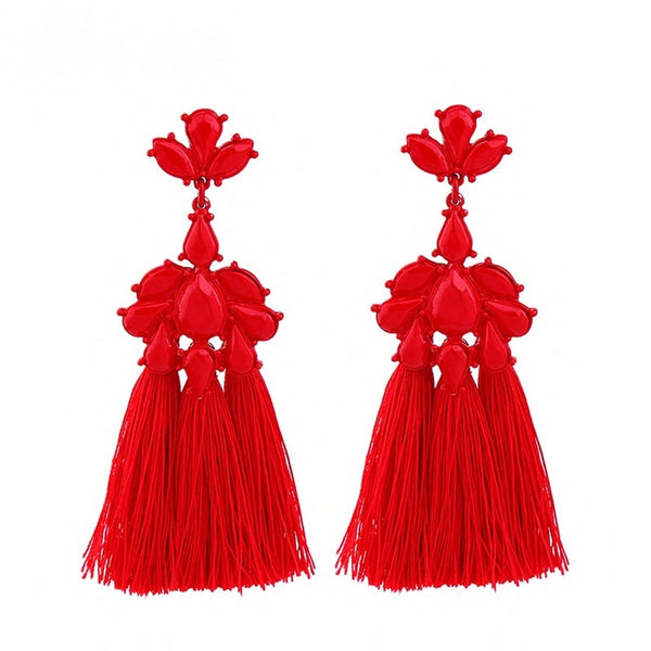 All Stops Earrings - Red