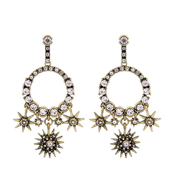 Revelation Earrings - Dark Gold