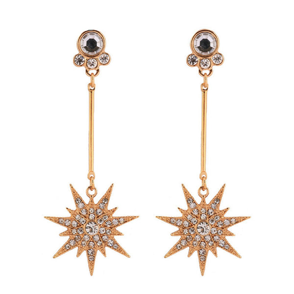 Star Bright Earrings - Gold