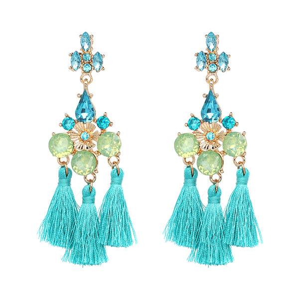 Flamenco Earrings - Turquoise