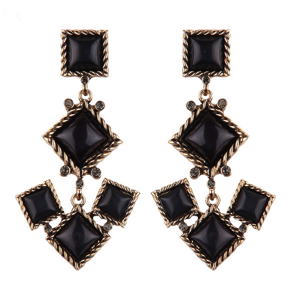 Tuscany Earrings - Black