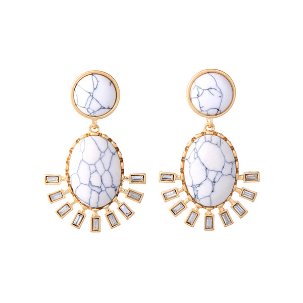 Tao Earrings - White