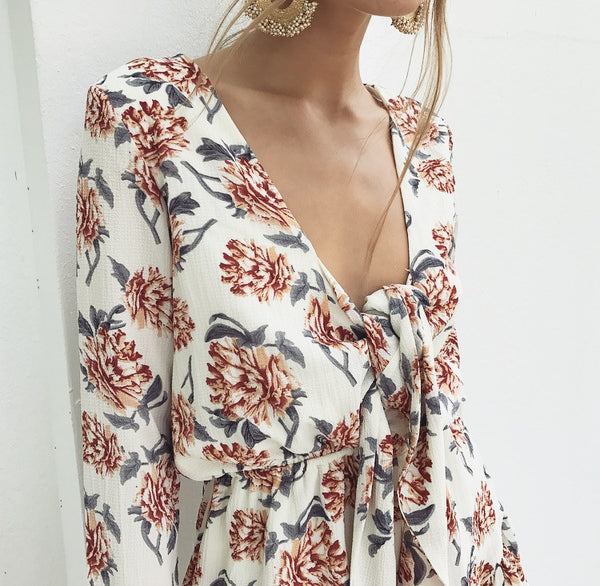 Wildflower Playsuit - Ivory