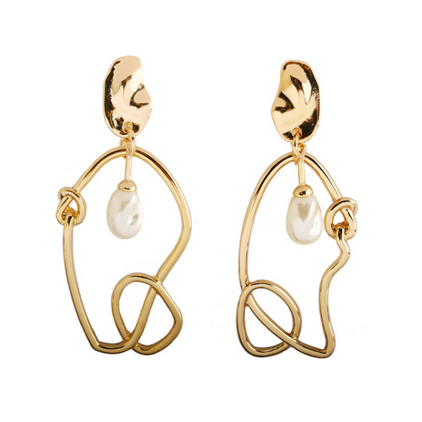 Femme Wire Earrings - Gold