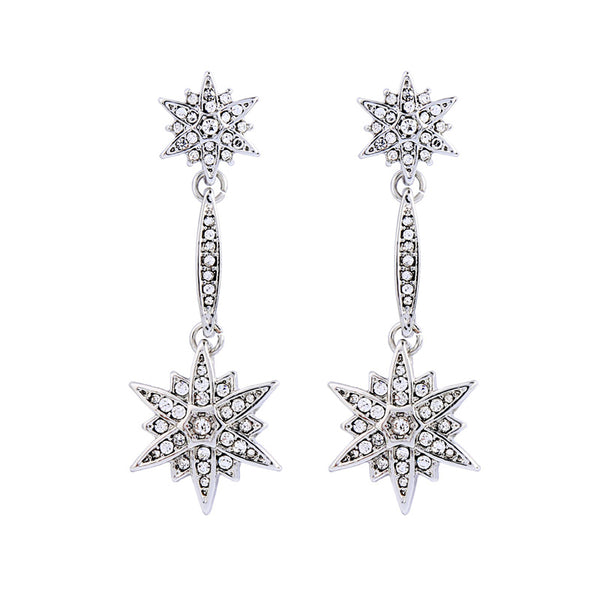Wish Upon A Star Earrings - Silver