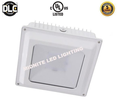 LED CANOPY/GARAGE LIGHT FIXTURE 45W,65W,80W /120-277V 5000K/BLACK & WHITE FINISH