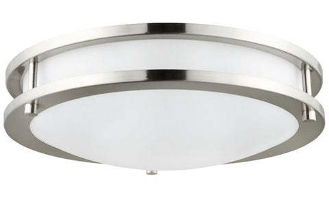 "Double Band Round Ceiling Light Fixture 10-18""/ brushed Nickel Finish"
