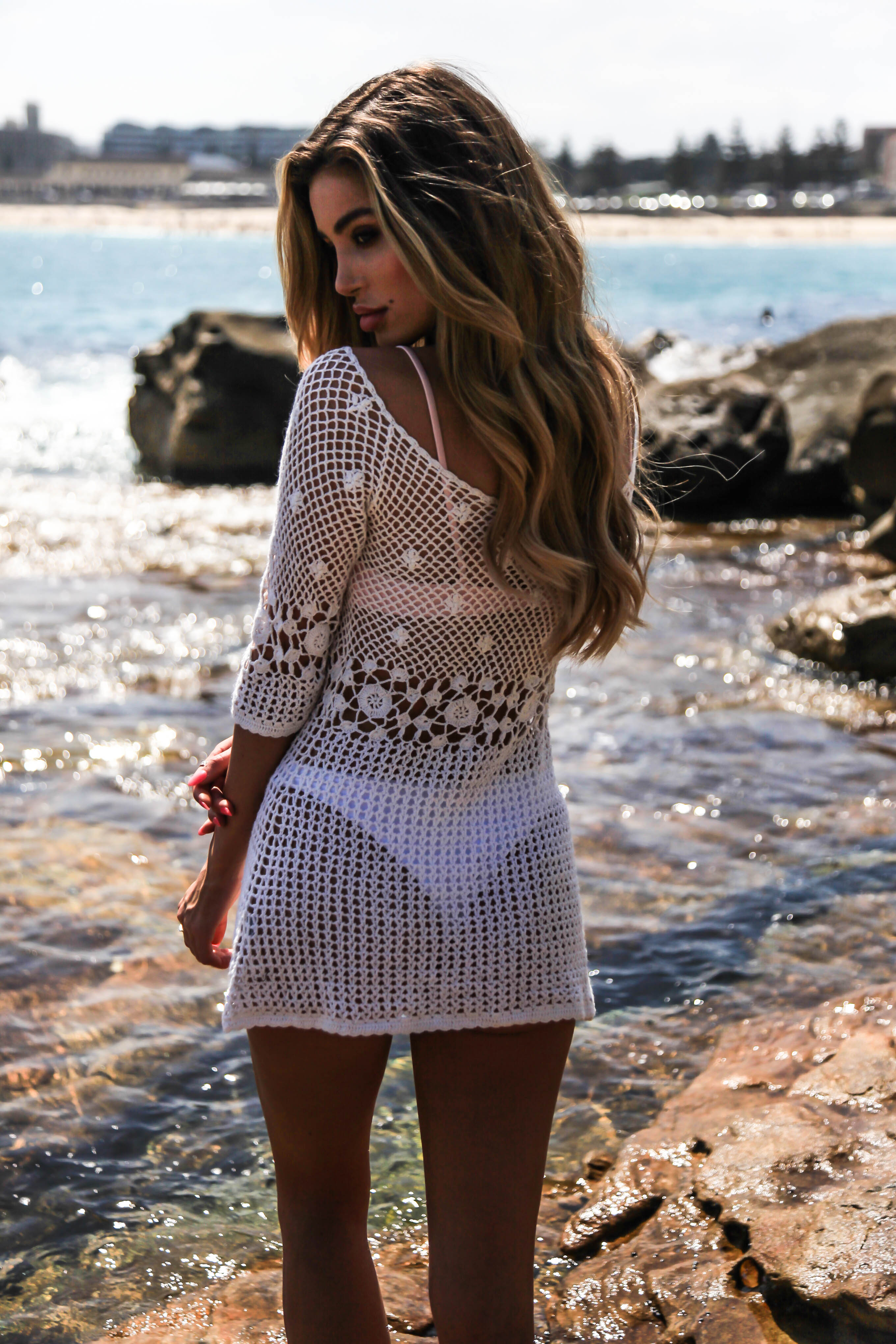 VINTAGE CROCHET DRESS - WHITE