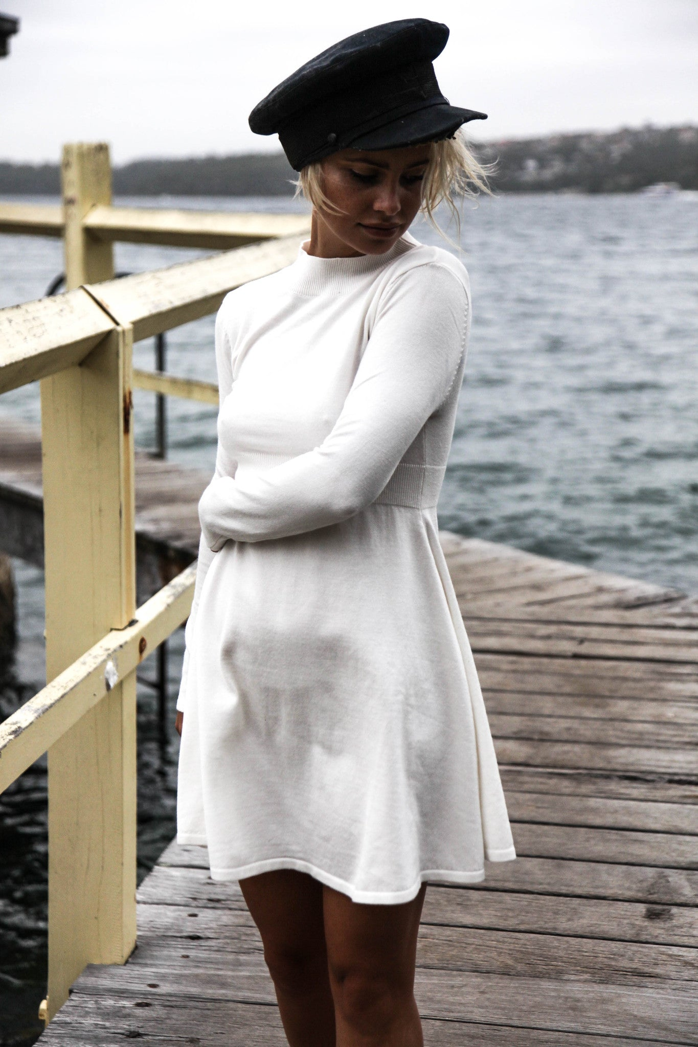 AVARY KNIT DRESS - MOONLIGHT