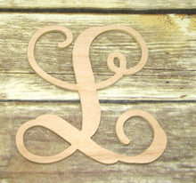 Wooden Single Letter Initials