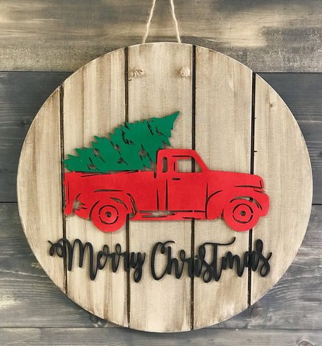 Merry Christmas Wooden Sign Cut-out 22