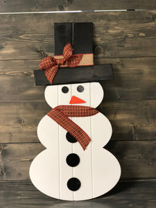"Snowman Wooden Cut-out 24"" Tall"