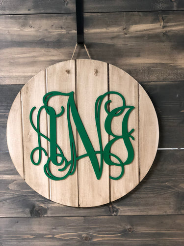 Monogram Wooden Sign Cut-out 22
