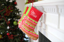 Holly Jolly Stocking with Personalization