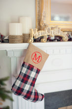 Winter Plaid Stocking with Personalization