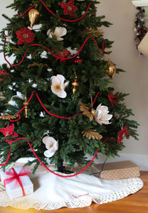 Classic Gold Dot Tree Skirt
