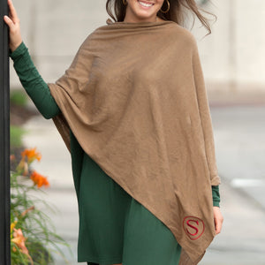 Taupe Chelsea Poncho - Personalized